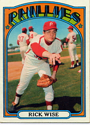 1972 Topps Baseball Cards      043      Rick Wise